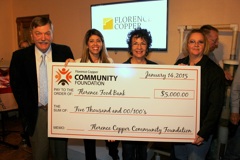 Grant Recipients Announced by Florence Copper Community Foundation $15,000 awarded to programs that benefit Florence and surrounding communities