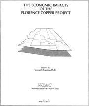 Western Economic Analysis Center's Economic Impacts of the Florence Copper Project Report (Revised May 2011)